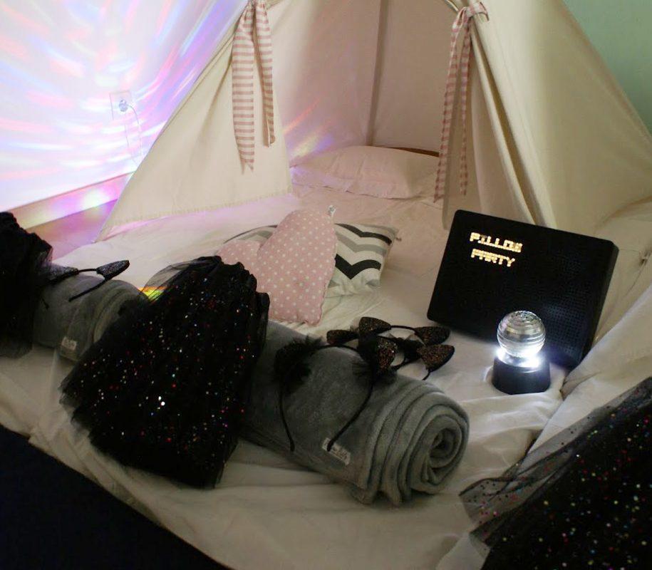 Tendas para festas do pijama - Cats & Disco
