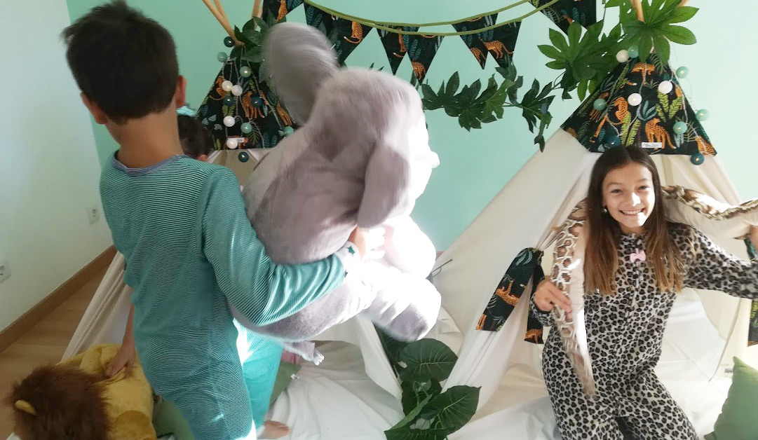 Tendas para festas do pijama - Safari