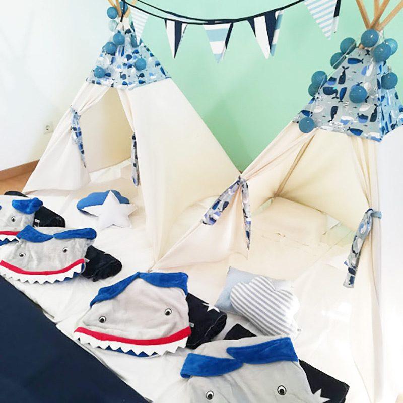 Tendas para festas do pijama - Tubarões/Mar
