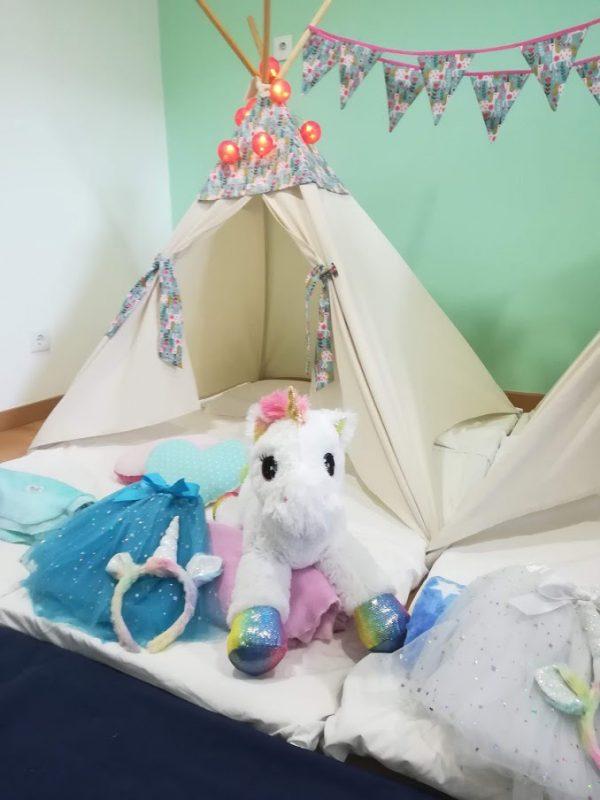 Tendas para festas do pijama -Unicórnio